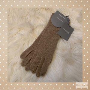 Hannah Rose 100% Cashmere Gloves - NWT - Beige